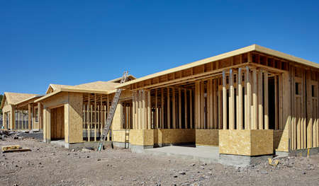 housing project: New housing project in progress construction building industry concept rows