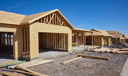 housing project: New housing project in progress construction industry concept of progress Stock Photo