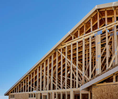 roof framing: New housing Gable end Roof Framing construction industry