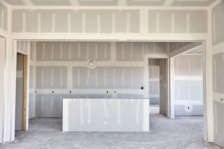 drywall: Construction building industry new home construction interior drywall tape and finish details