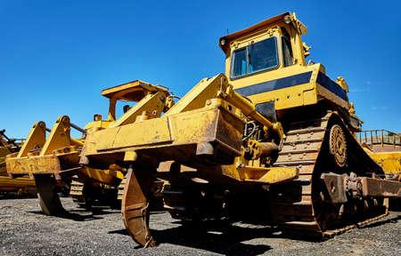 contracting: Heavy equipment bulldozer ripper Stock Photo