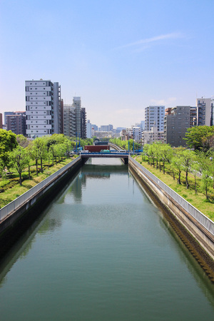 Canal and High-rise building