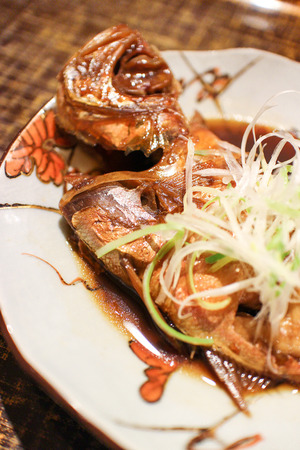Simmered red snapper