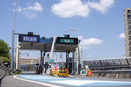 高速道路入口のゲート