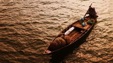 unexplored: boat Stock Photo