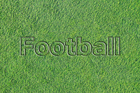 Message on Artificial turf (Footboll) 写真素材