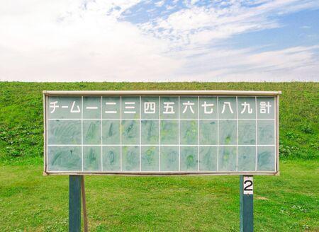 Baseball scoreboard 写真素材