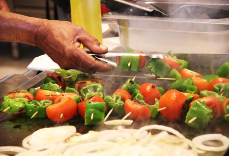 griddle: some vegetables in a griddle