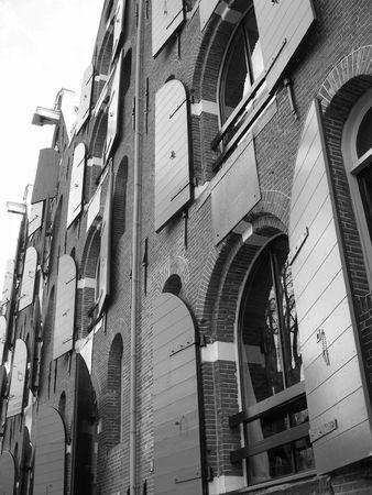Open shutters in Amsterdam photo