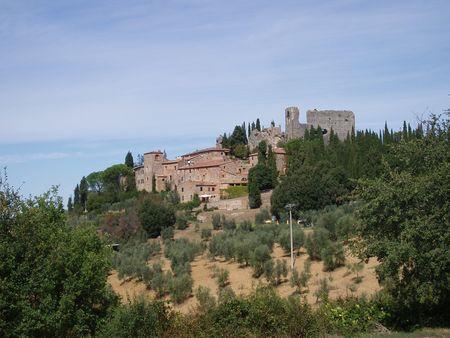 Tuscan village Banco de Imagens - 4527648