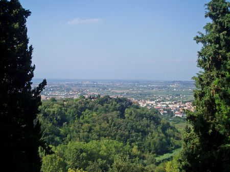 Tuscan vista Banco de Imagens - 4553156