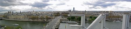 Panoramic view of Paris from La Samaritaine