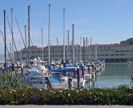 Sailboats in Fort Mason California