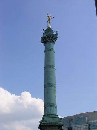 July column at Place de la Bastille in Paris