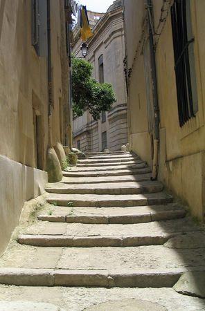 Steps in Montpellier France