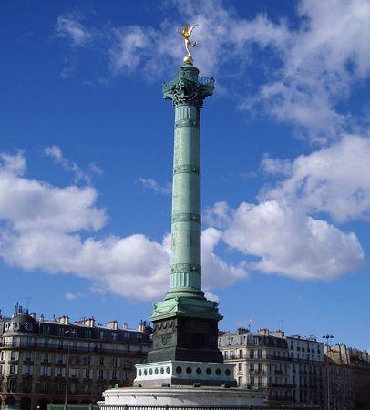 July column at Place de la Bastille in Paris