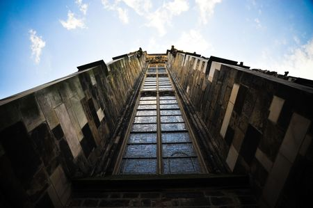 Looking up at the Aachen Cathedral