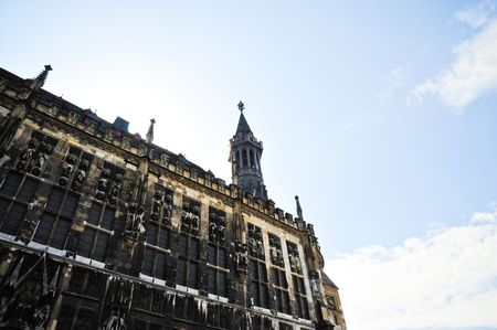 rathaus: Rathaus in Aachen Germany