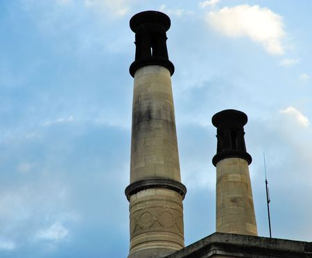 hereafter: Pere Lachaise crematorium chimneys