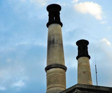 crematorium: Pere Lachaise crematorium chimneys