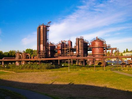 wallingford: Gas Works park, Seattle Stock Photo