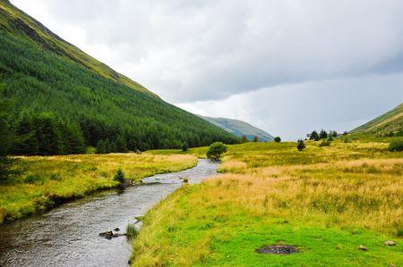 Highland valley Stock Photo