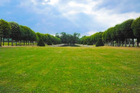 Garden of a French chateau