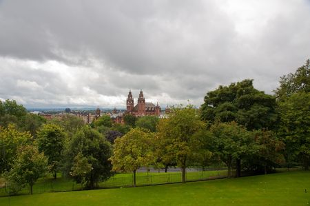 View from Glasgow University