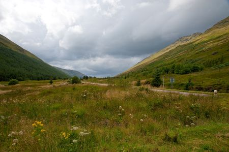 Valley in the Highlands of Scotland