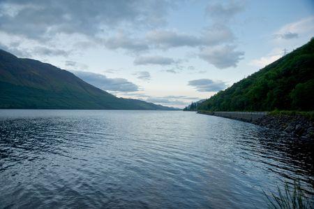 Loch in the Highlands of Scotland Standard-Bild