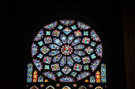 Chartres cathedral stained glass Redakční