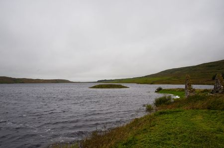 Eilean Mor Loch Finlaggan, seat of the Lord of the Isles