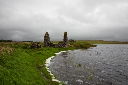 macdonald: Eilean Mor (Large Island) Loch Finlaggan, seat of the Lord of the Isles Stock Photo