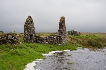 Eilean Mor (Large Island) Loch Finlaggan, seat of the Lord of the Isles Stock Photo