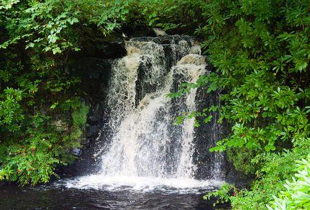 スコットランドの高地の滝 写真素材