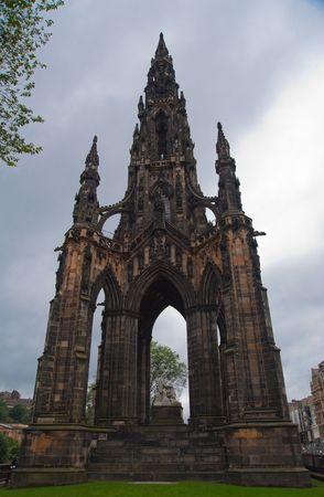 sir walter scott: Scott Monument in Edinburgh Scotland