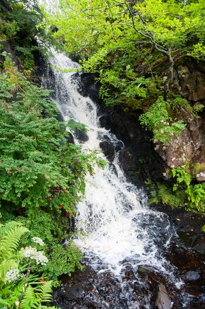 Waterfall in the Highlands of Scotland Stock Photo