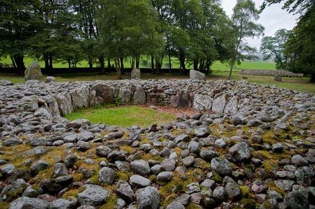 Section of Hadrians wall in England Stock Photo