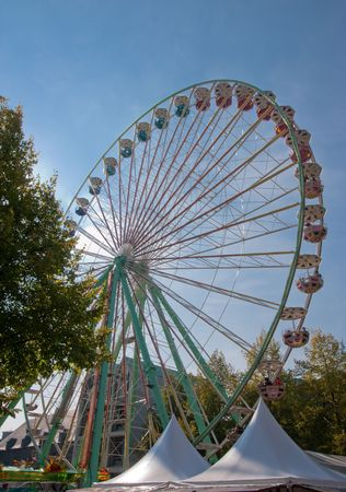 Ferris wheel at fair in Aachen, Germany