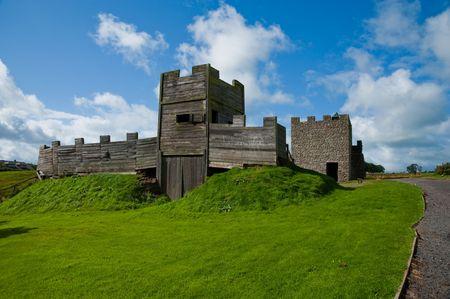 Gatehouse reconstruction at Vindolanda Roman fort