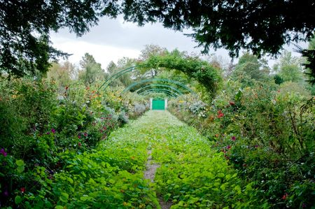 Claude Monets garden in Giverny France photo