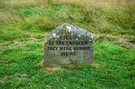 jacobite: Grave marker on the Culloden battlefield Stock Photo