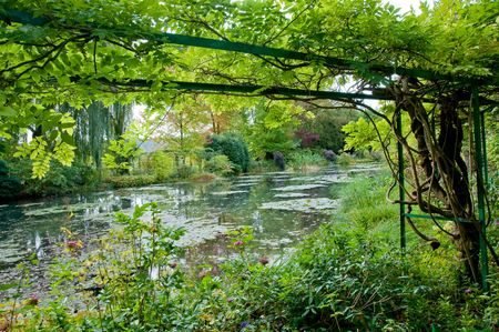 Claude Monets garden and pond in Giverny France