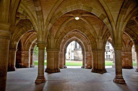 Arches in Glasgow University Stock Photo