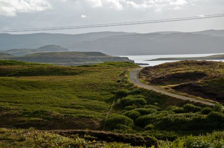Road on the Isle of Skye, Scotland Stock Photo