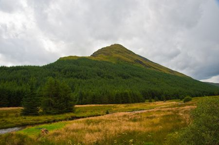 Hill in the Highlands of Scotland Stock Photo