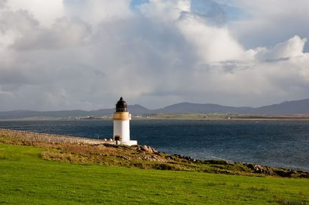 Port Charlotte lighthouse, Islay Stock Photo