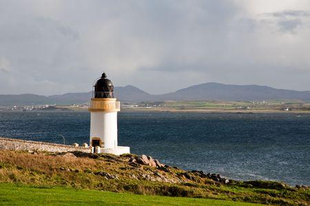 Port Charlotte lighthouse, Islay Stock Photo