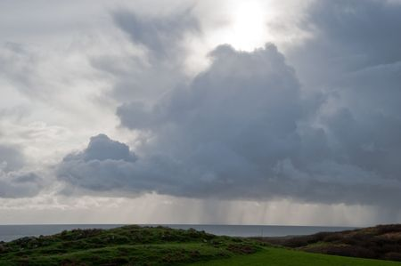 Stormy sky on Islay photo