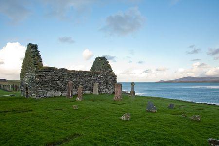 parish: Kilnave parish church, Islay Scotland Stock Photo